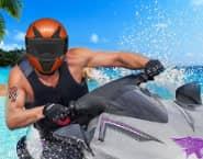 JetSky Power Boat Stunts Water Racing
